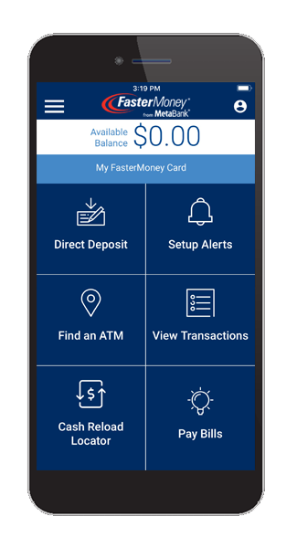 MetaWallet homescreen